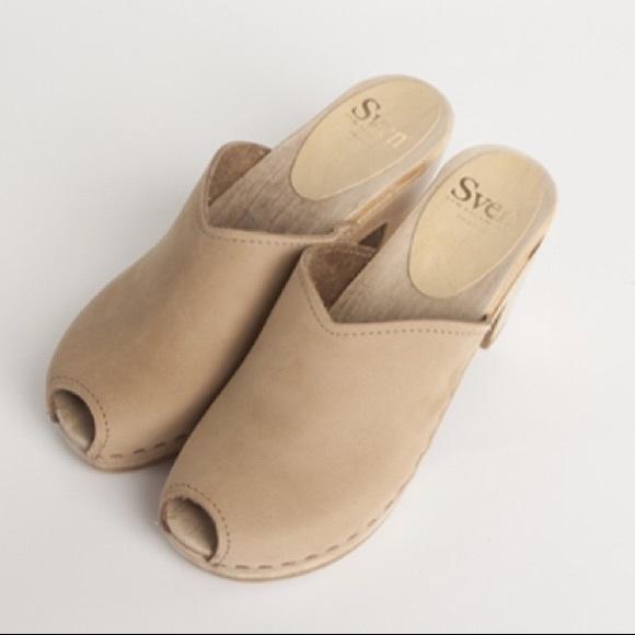 Sven Shoes | Sven Peep Toe Clogs | Poshmark